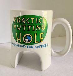 Hallmark Golf Coffee Mug Golfer Practice Putting Hole Also Good For Coffee Large 16 Oz Coffee Mugs, Coffee Mugs Online, Coffee Creamer, Coffee Latte, Funny Coffee Mugs, Coffee Humor, Tea Mugs, Coffee Cans, Coffee Type