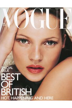 Kate Moss British Vogue Cover, June 1998