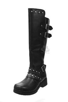 Harley-Davidson® Womens Hope Black Leather High Cut Boot 83734