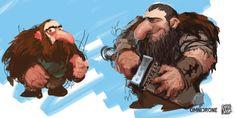 dwarf concepts by Enric Sant