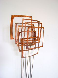 Mid Century Modern Kinetic Sculpture Signed Abstract Geometric Art