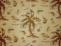 TOMMY BAHAMA FABRICS VINTAGE PALM BEACHES MAP