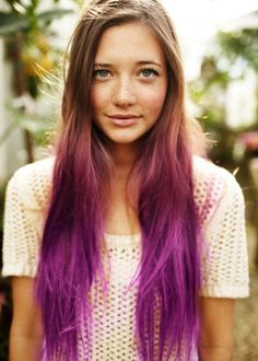 Add some color to your hair with dip-dyed tips.