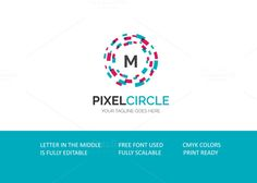 Pixel Circle V3 Logo by XpertgraphicD on Creative Market