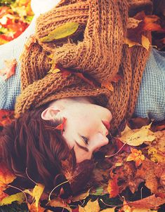 """""""I guess I'm stuck in a dream, surrounded by colored leaves on the ground.""""  -  Feeder"""