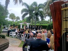 Beautiful garden wedding at The Colony Hotel in Palm Beach with Officiant Pastor Paul Underhay and Harpist Esther Underhay @thecolony @theelegantharp #palmbeachwedding #thecolonywedding #gardenwedding #luxurywedding #southfloirdawedding #harp #musician