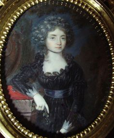 Mourning lady, possibly Princess Amalie of Salm-Kyrburg in mourning for her brother Frederick, guillotined in 1794