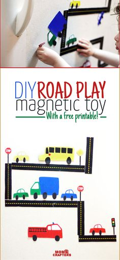 Looking to engage your little ones with a simple and inexpensive activity? Make these DIY car magnets - it will keep them busy for hours! It's a perfect indoor activity for toddlers.