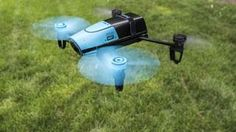 The company's new smartphone-controlled quadcopter, first announced in May, is finally flying into stores.