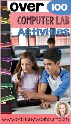Don't stress over integrating technology in the elementary classroom any more. Click to see over 100 computer lab activities for your grades K-5 students, and even a few for middle school.
