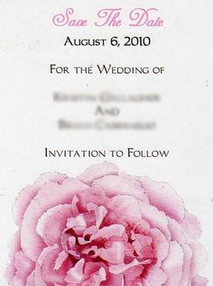 Pink Peony Magnet Save the Date by BertoliBridal on Etsy, $2.00