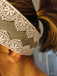 Living.Life.And.Loving.Every.Second: Lace Headband Tutorial