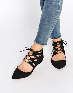 ASOS | ASOS LEVEL UP Lace Up Ballets at ASOS