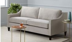 25 mid-century modern West Elm knock offs that are half the cost AND my step-by-step process for finding affordable designer style look-alikes! Living Room Accents, Living Room Sets, Living Room Designs, Small Couch, Leather Sectional Sofas, Attic Design, Classic Sofa, Furniture Upholstery, Mid Century Modern Furniture