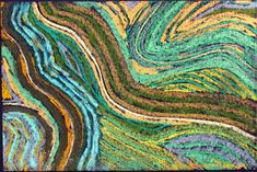 Greenscape A - pastel drawing on black paper by Jason Messinger Art