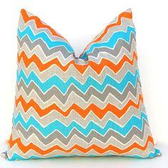 Chevron Pillow Covers Decorative Throw Pillow by FestiveHomeDecor, $38.00