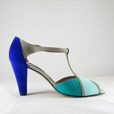 Salomé ouverte Lisa n°526, Talon cubain 8 cm - Alix de la Forest, chaussures personnalisables