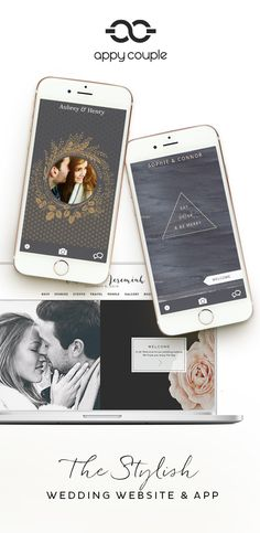 The Wedding website that comes with a  app and builds itself in style. Check out the new charcoal and midnight designs...