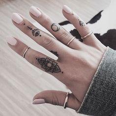 Love hand tattoos.