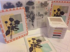 September Card Zoe B&T, Whisper, Glacier, Buttercup & Black Ink and September Stamp Of The Month.