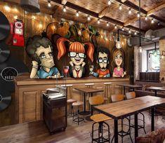 3D Bar Counter Liqueur 193 Wallpaper AJ Wallpaper 2 Bar art Cafe interior design Wall murals