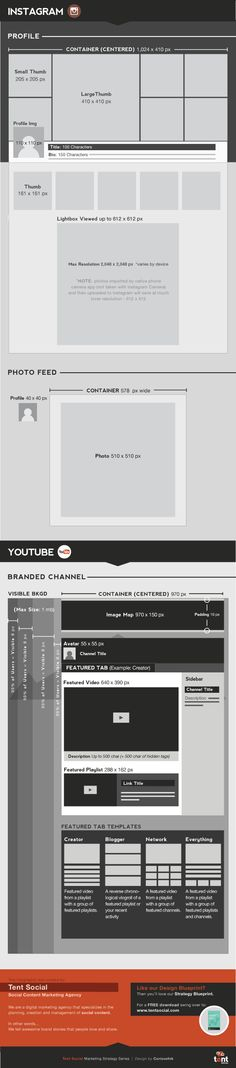 Social Media Design Blueprint - Infographic
