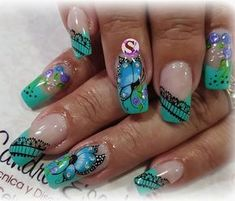 Long Nail Art, Beauty Brushes, Pretty Nail Designs, Paws And Claws, Bridal Nails, Fabulous Nails, Nail Inspo, Spring Nails, Toe Nails