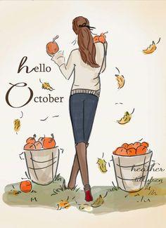 Rose Hill Designs by Heather Stillufsen Hello Autumn, Autumn Fall, Illustrations, Happy Fall, Fall Season, Fall Halloween, Happy Friday, Happy Tuesday, Fall Decor