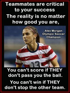 "Alex Morgan Soccer Photo Quote Wall Art Poster Print 8x11"" Teammates You Can't Score If They Don't Pass You The Ball - Free USA Shipping on Etsy, $15.99"