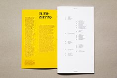 Tosto - si legga! on Editorial Design Served