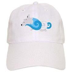 Polar Bear Swimmer Blue Baseball Cap