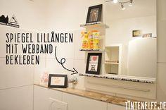 Mein Ruhrpott-Pott und ein Mini Ikea-Hack - Spiegel Lillangen mit Webband bekleben - Tintenelfe Blog