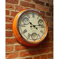 Orange retro wall clock in style cafe design feel the quirky in your home cool vibrant colour station clock, its will surely brighten your day Retro Kitchen Clocks, Kitchen Wall Clocks, Retro Clock, Vintage Clocks, Orange Wall Clocks, Novelty Clocks, Mantel Clocks, Mantle, London Wall