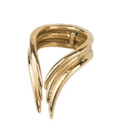 Shop the season's chicest statement pieces at #ShopBAZAAR - Aesa Simple Bow Ring