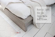 Ikea malm bed hack, rustic look with timber cladding. Tutorial by Hester's Handmade Home