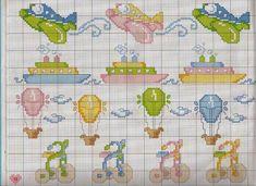 cross stitch for baby | Edilse Bordados: Gráficos de aviões em ponto cruz!!!