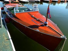 Remember these 'old' wood inboard ski boats? We had one in the 50's and I learned to water ski behind it. Thinking we got a fiberglass one in the mid 60's finally.