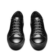 Acne Studios Adrian Black Leather tennis shoes