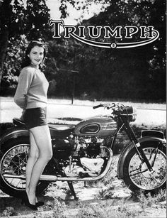 Vintage Triumph ad.
