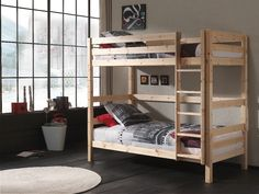 Products Etagenbett Pino - Kiefer Massivholz - cm Roller How to choose contemporary Rattan we Furniture Sets, Furniture Design, Single Bunk Bed, Bunk Beds With Drawers, Loft Design, Solid Pine, Apartment Living, Minimalist Design, Interior