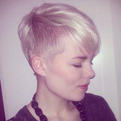 Charmante Kurzhaarfrisuren für Frauen mit blonden Haaren - Neue Frisur