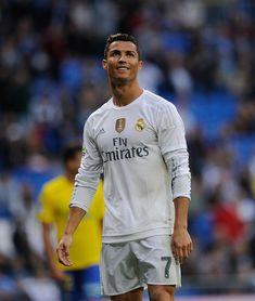 Cristiano Ronaldo of Real Madrid reacts during the La Liga match between Real Madrid CF and UD Las Palmas at Estadio Santiago Bernabeu on October 31...