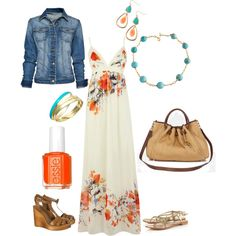 Orange & Turquoise Summertime, created by melissa-newtzie on Polyvore