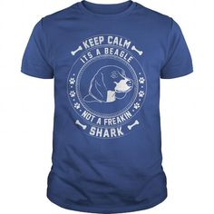 Keep Calm Its A Beagle Not A Freaking Shark T Shirt TShirt