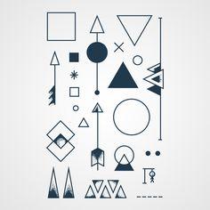 Tatouage temporaires design Formes géométriques - 8 euros le lot de 2 -
