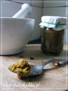 Domowa zielona pasta curry