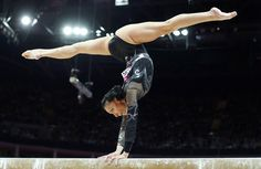 Romania's Catalina Ponor competes in the women's gymnastics balance beam final in the North Greenwich Arena during the London 2012 Olympic Games August 7, 2012.