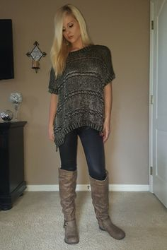 Metallic Thread, One-Size Poncho Cardigan. Black with Gold. - 5dollarfashions.com