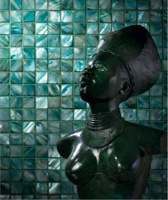 Harmonie Mosaics - Siminetti's Mother-of-Pearl tiles #egyptian #bathroom
