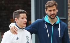 Herrera was later spotted with his ex-Athletico Bilbao team-mate Llorente, with the United man still wearing his worries on his face. The pair were in 2012 side that won at Old Trafford. Old Trafford, Swansea, Man, Sweatshirts, Cheers, Sweaters, Jackets, How To Wear, Fashion
